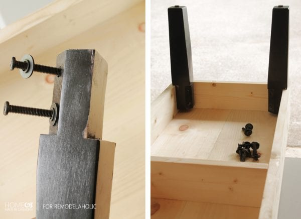 DIY bench legs - HMC for Remodelaholic