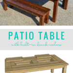 DIY Patio Table With Built In Drink Coolers For Ice, Remodelaholic