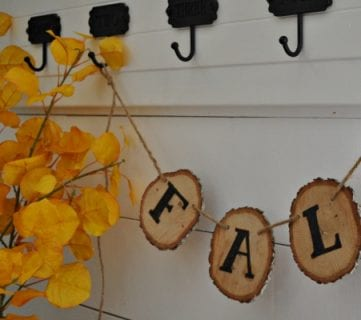 Rustic Fall Wood Slice Banner