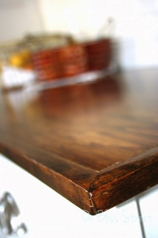 Erica On Bliss Street DIY wood countertops review durability