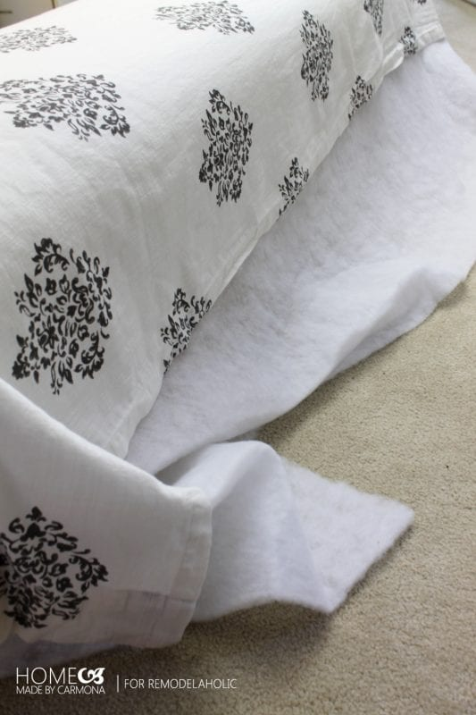 Fabric for bench - HMC for Remodelaholic