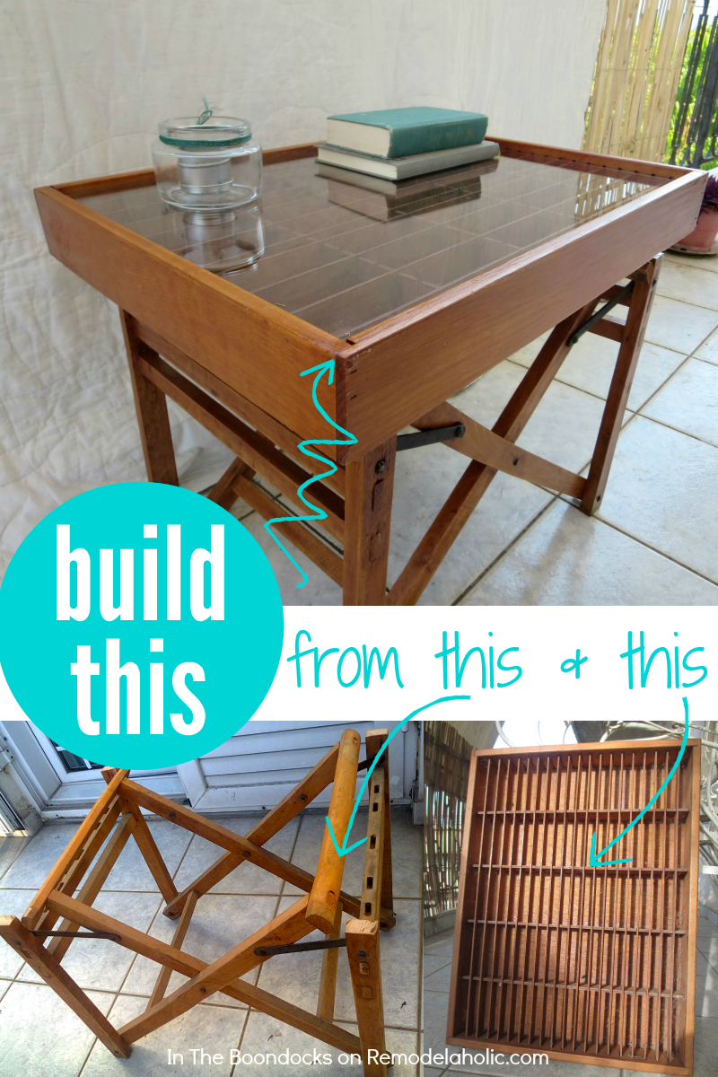 Make A Table From Cast Off Broken Furniture An Old