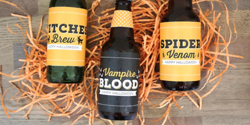 Halloween Bottle Label Printables - Featured