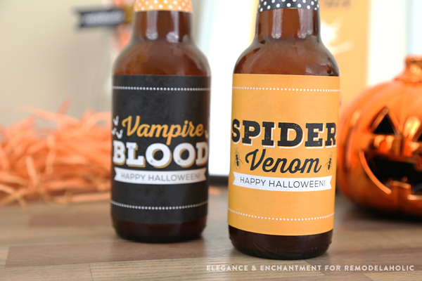 Remodelaholic | Free Printable Halloween Party Bottle Labels