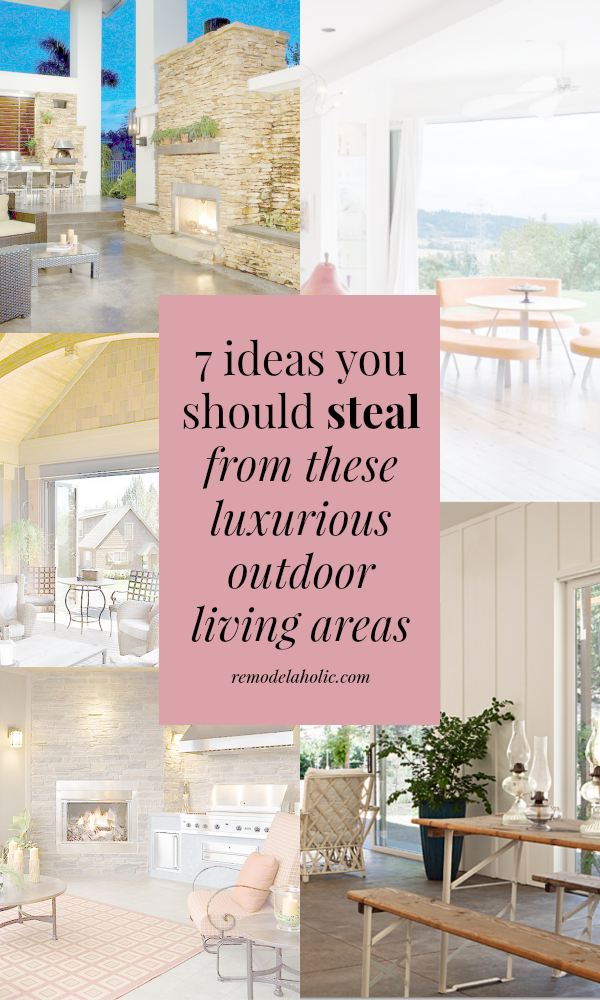 Take Some Notes From These High End Luxurious Outdoor Living Spaces To  Create A Beautiful