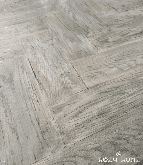 Jill The Rozy Home DIY pieced wood herringbone countertops review