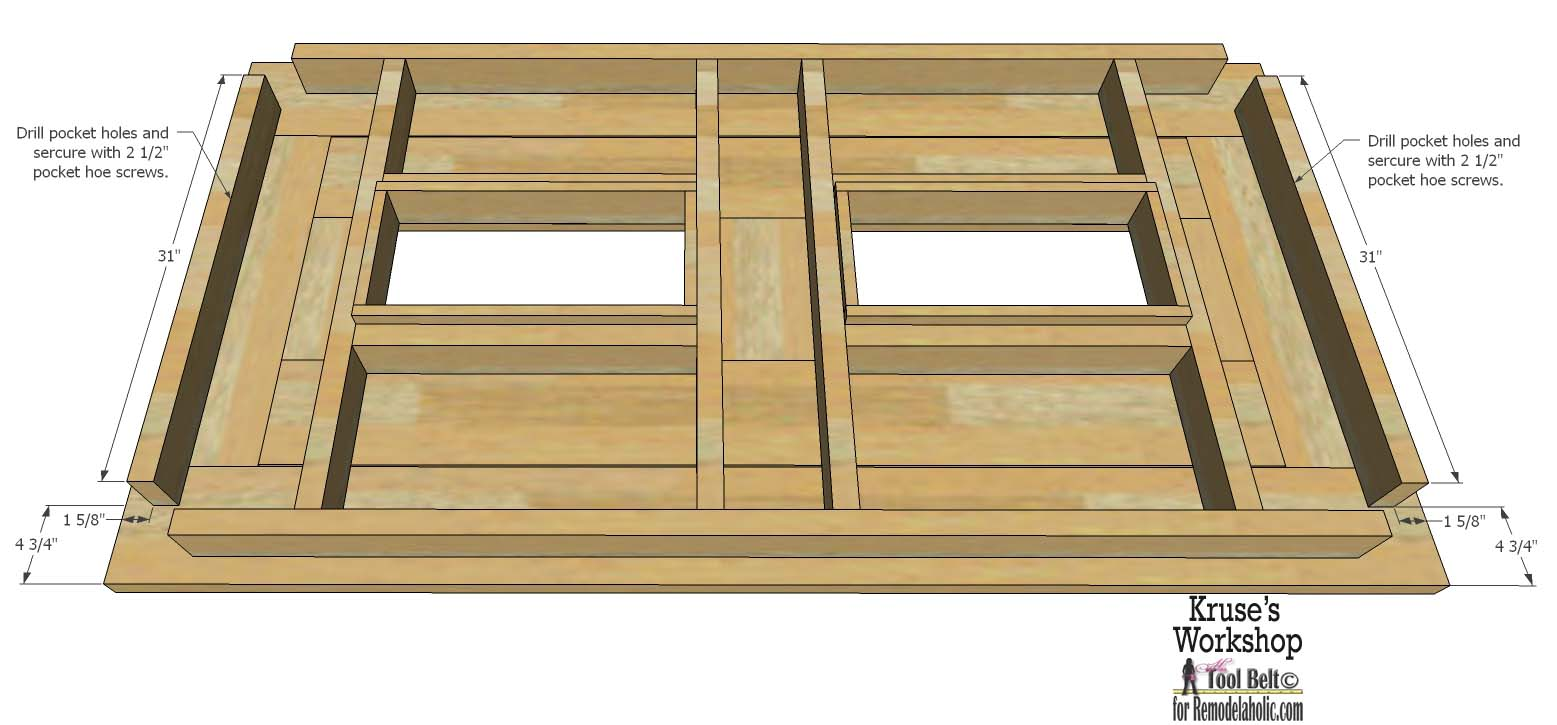 Building plans patio table with built in drink coolers for Patio table with built in cooler