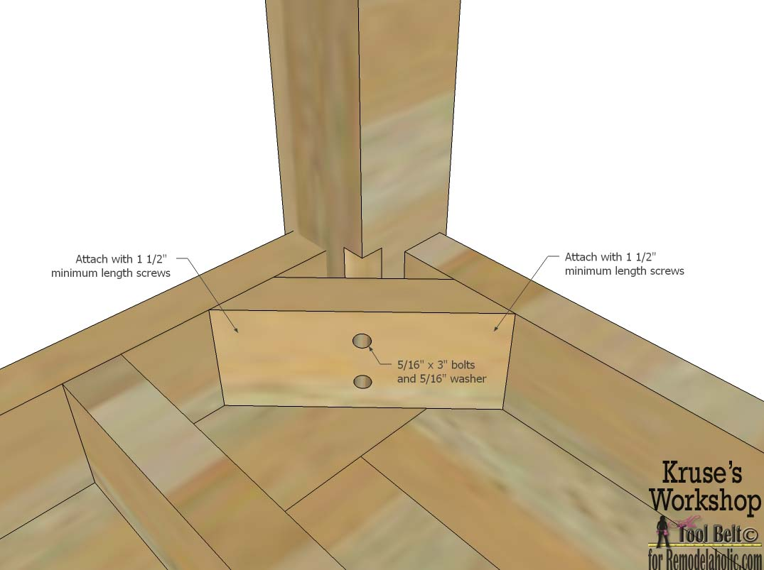 Remodelaholic Building Plans Patio Table With Built In