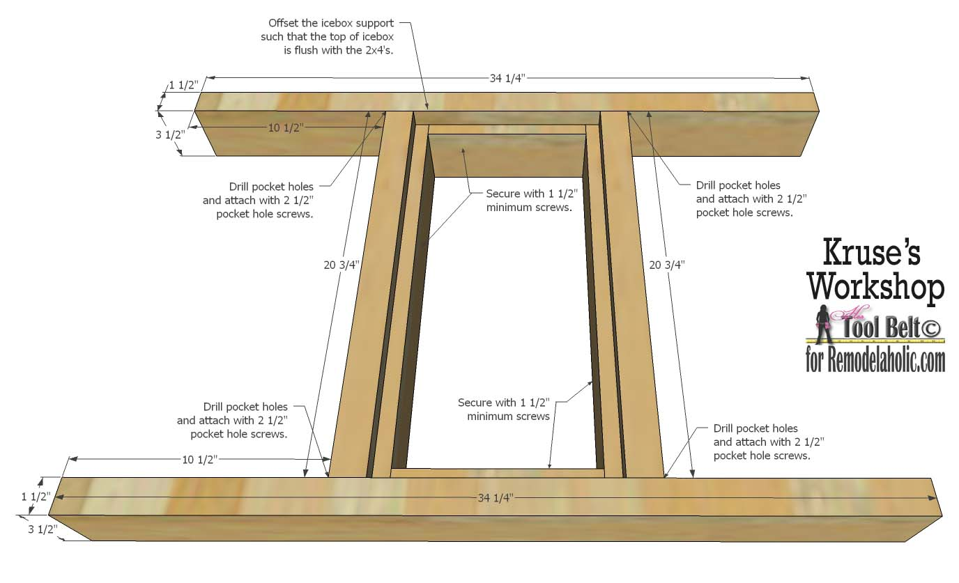 Free Plans For The Perfect Table For Your Patio, It Has Built In Ice Boxes