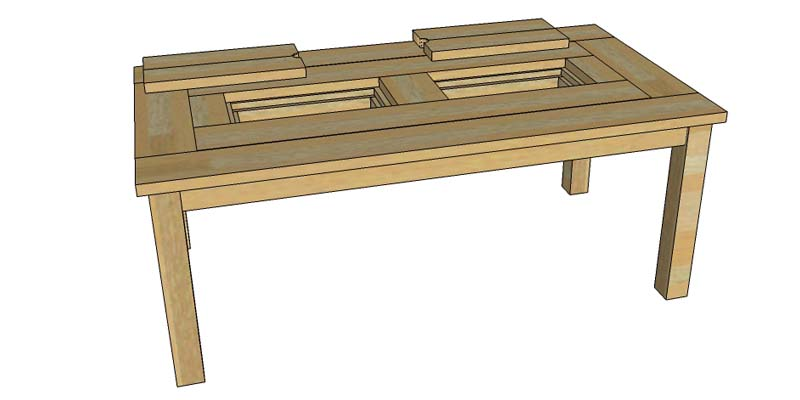 - Remodelaholic Building Plans: Patio Table With Built-in Drink Coolers