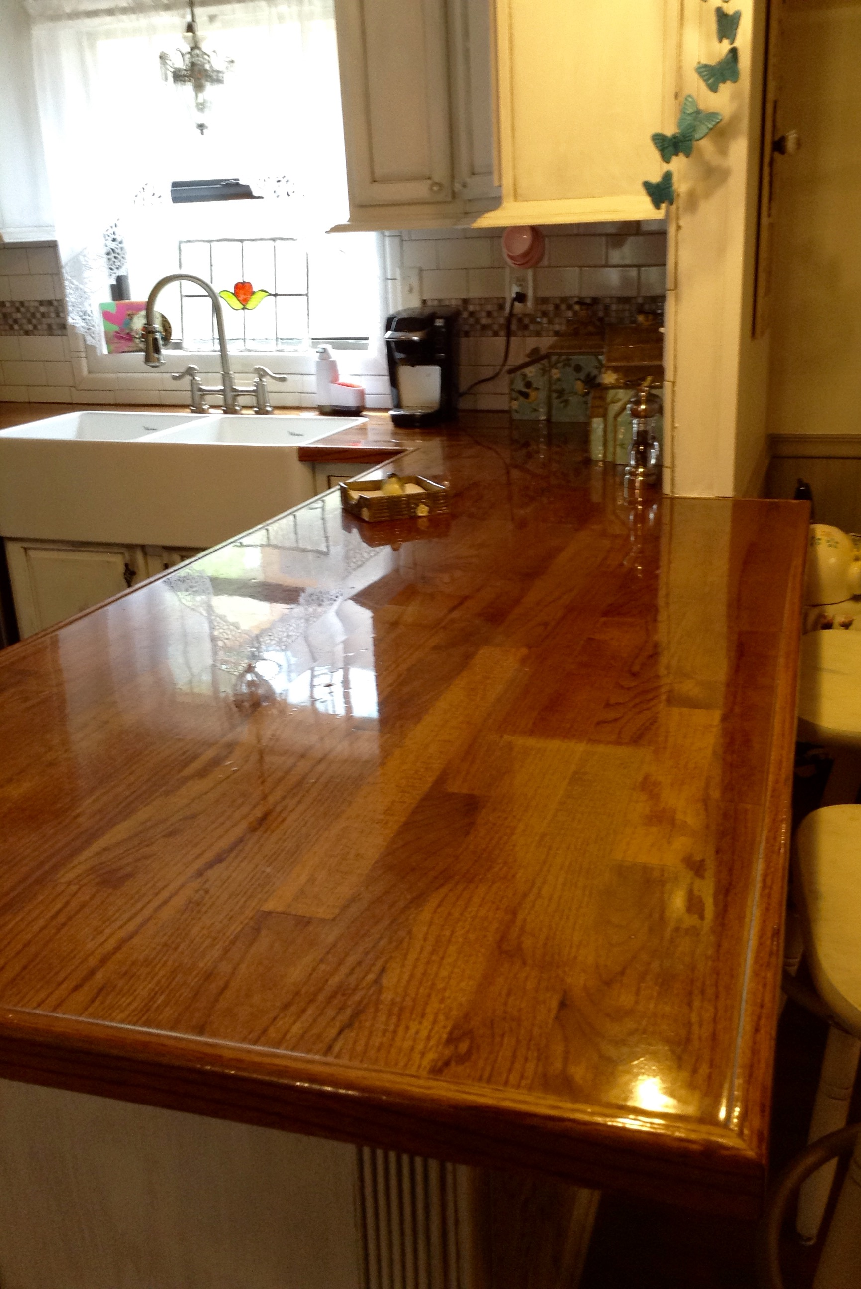 Genial Peggy PJH Designs DIY Oak Flooring Countertop Review. U201c