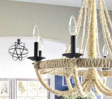 DIY Rope Chandelier Lighting Update