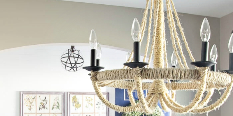 Diy Rope Chandelier Remodelaholic diy rope chandelier lighting update audiocablefo