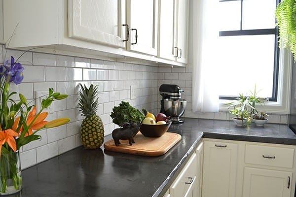 Sarahu0027s Big Idea DIY Dyed Concrete Countertops From Scratch Durability  Review