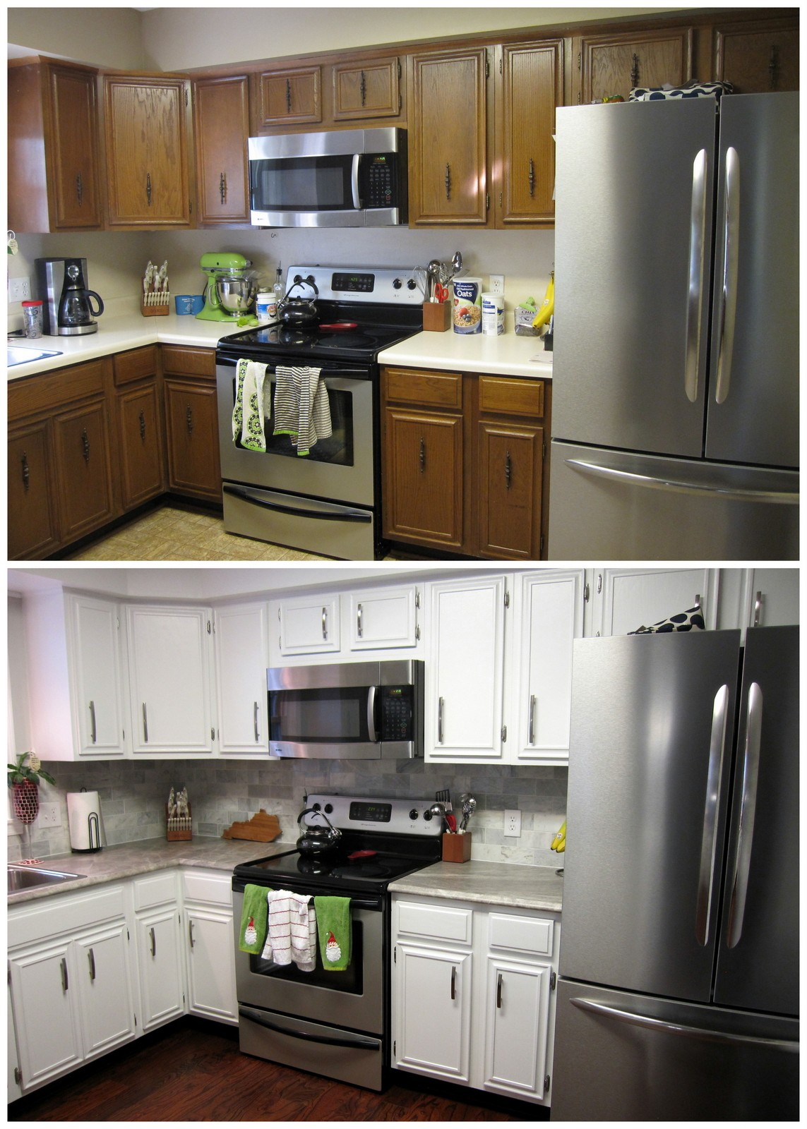 Remodelaholic diy refinished and painted cabinet reviews for I kitchen cabinet