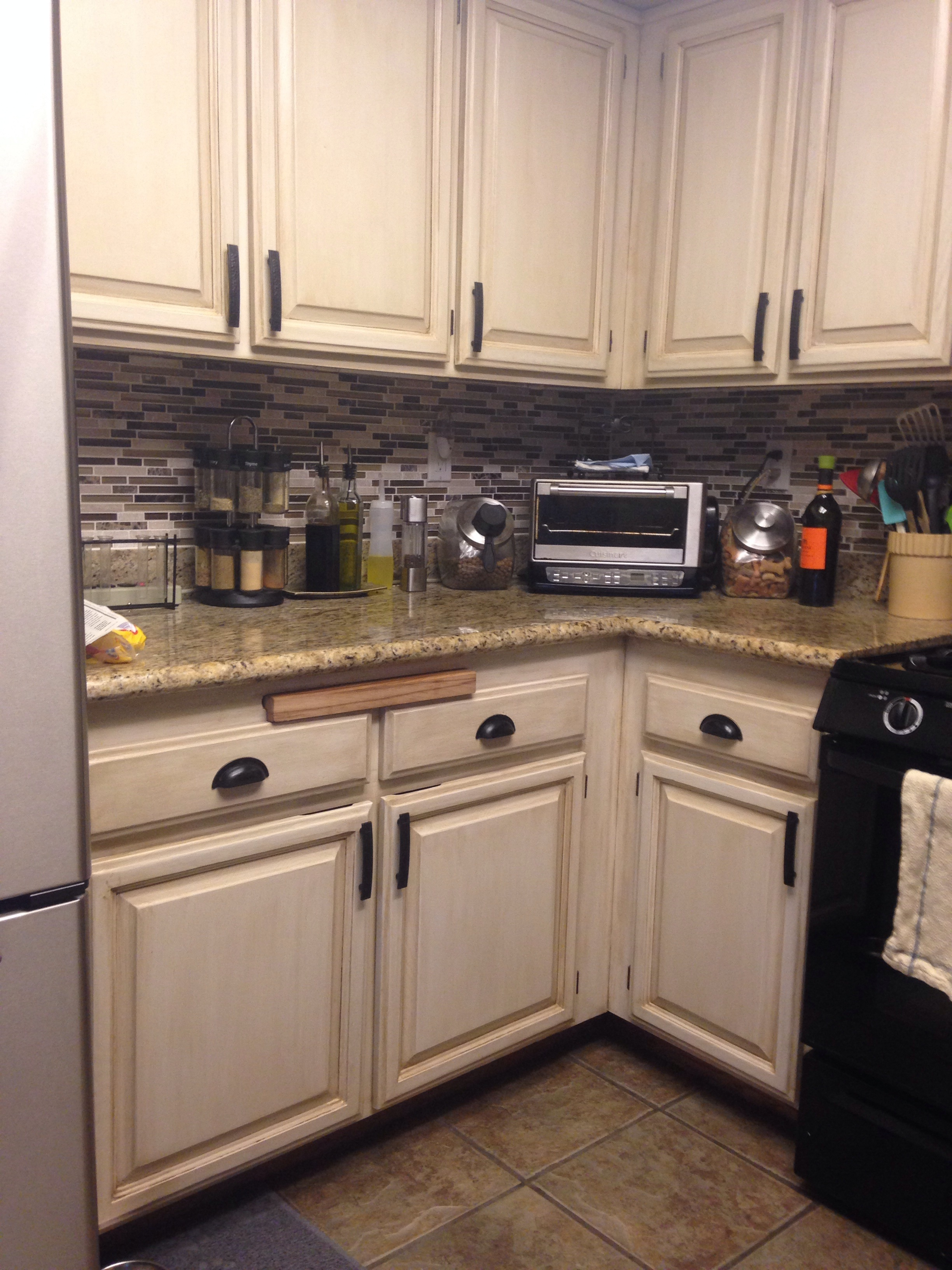 Permalink to Painted Kitchen Cabinets With Black Counters