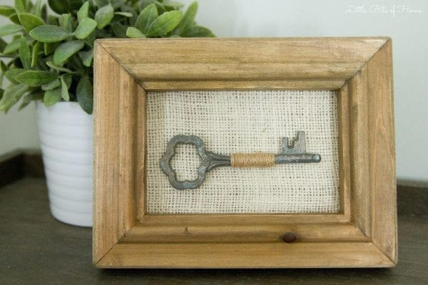 antique key easy wall art idea Little Bits of Home