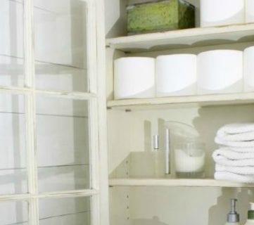 Bathroom Storage Cabinet using an old Window