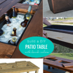 Build A DIY Patio Table With Drink Coolers, Woodworking Plans Remodelaholic