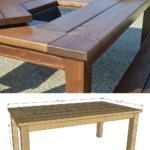 Build A DIY Patio Table With Ice Box Drink Coolers And Benches, Remodelaholic