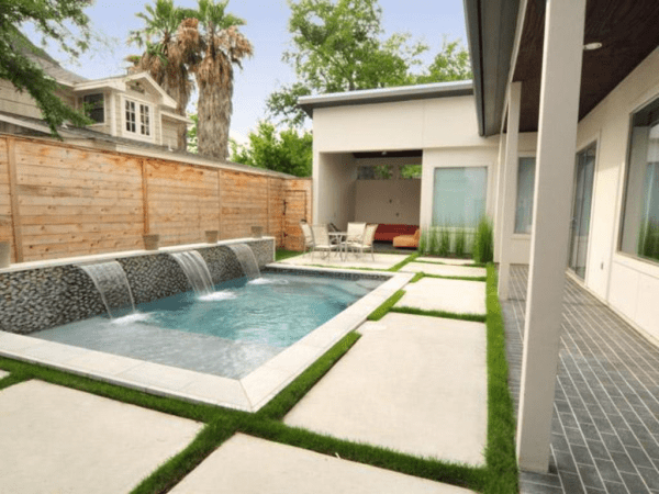 dreamy pool patio and courtyard
