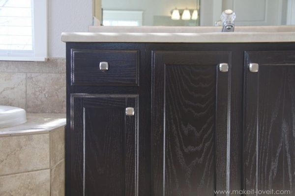 gel stained oak cabinets via Make It and Love It