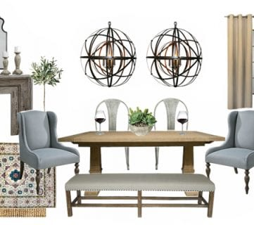 A Napa Inspired Dining Room: Old World Meets Modern