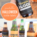 Printable Halloween Bottle Label For Halloween Party Drinks, Elegance And Enchantment For Remodelaholic