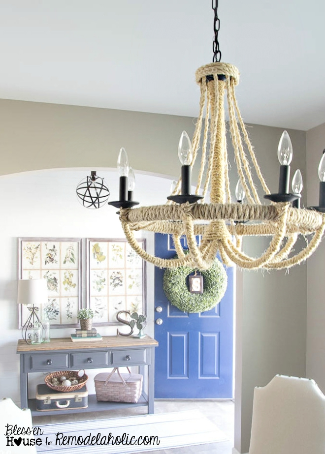 Marvelous rope chandelier