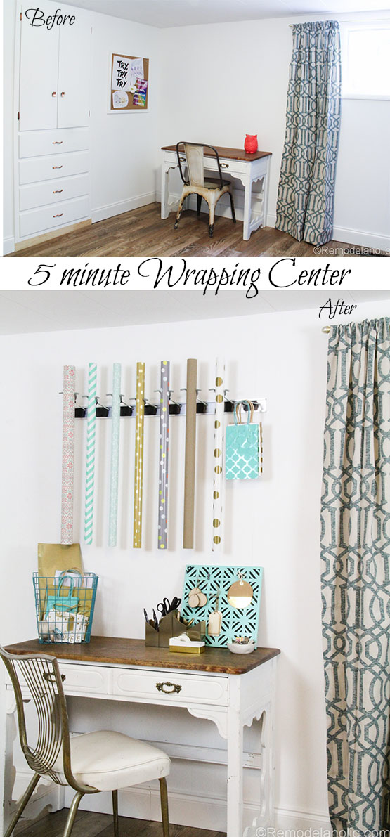 1 Super Easy DIY Wrapping Paper Center @remodelaholic (5 of 20)