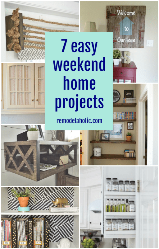 Check a project off your list and enjoy a day off, too -- try one of these easy weekend home projects to make a change in a day or less.
