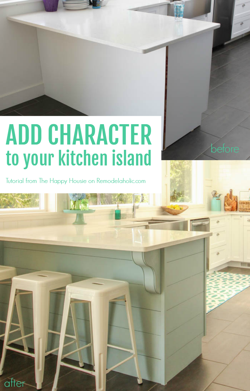 Add Character To Your Kitchen Island Or Peninsula By Adding Planks For  Shiplap Texture And Corbels