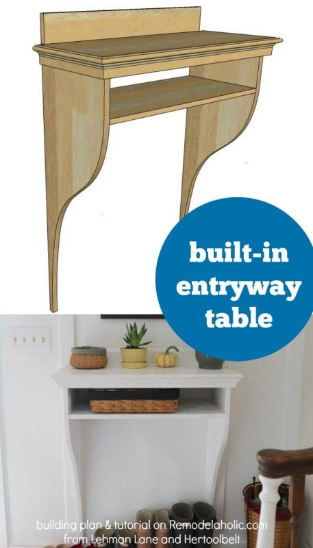 Foyer Plan You Tube : Remodelaholic diy built in entryway table with board and