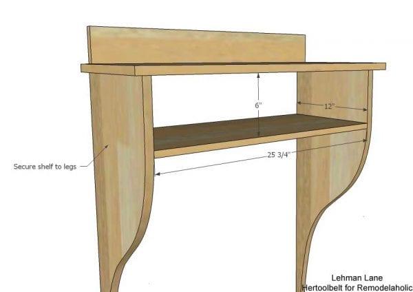 Built in Entry Table- shelf