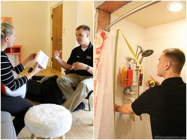 Consultation with bath fitter