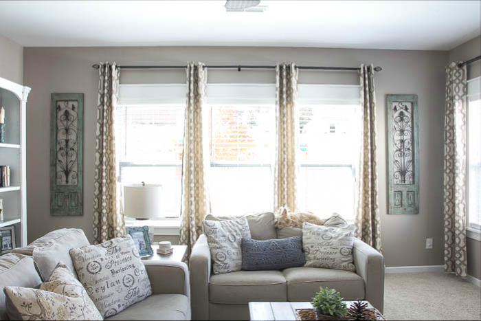 DIY Easy Craftsman Trim helps windows to look finished featured on Remodelaholic.com