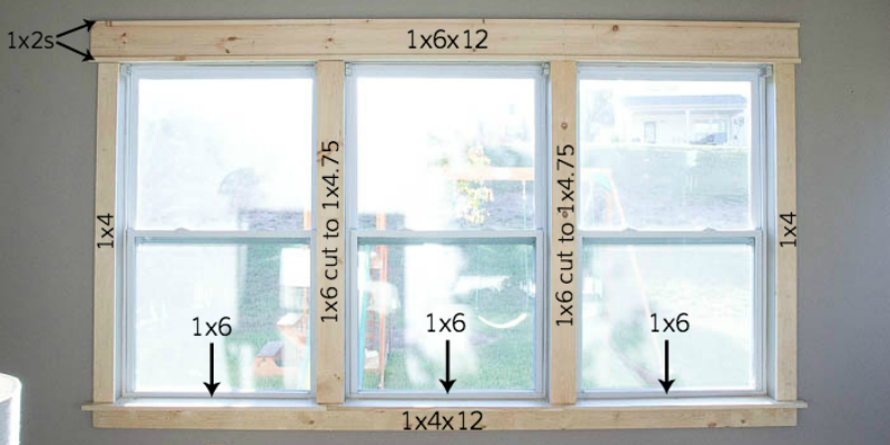 Remodelaholic | DIY Easy Craftsman Window Trim