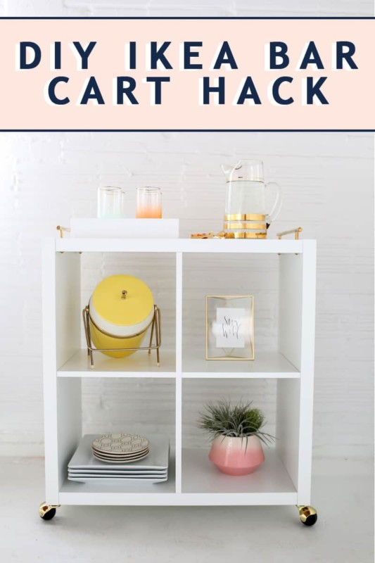 DIY Ikea Bar Cart Hack