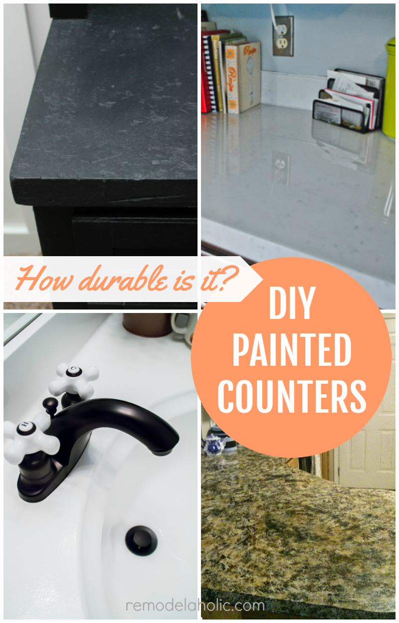 Can I Paint Countertops Remodelaholic Glossy Painted Kitchen Counter Top Tutorial