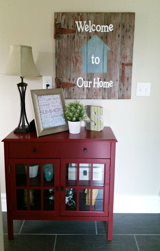 DIY barn door wall art House on Raspberry Hill