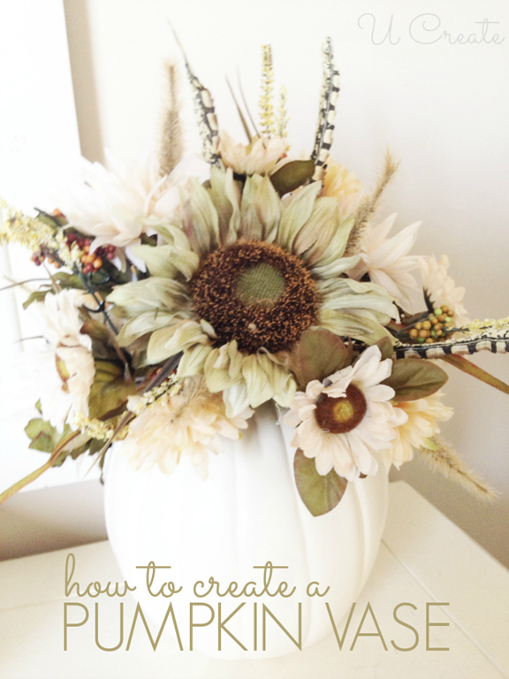 DIY pumpkin vase tutorial UCreate