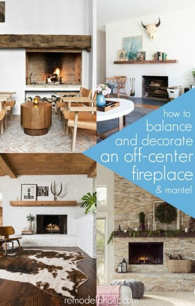 ... Decorating Around An Off Center Fireplace @Remodelaholic Part 24
