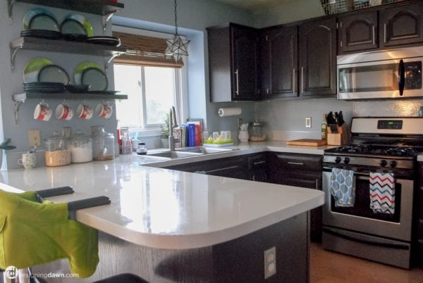 Designing Dawn DIY painted and sealed countertops durability review