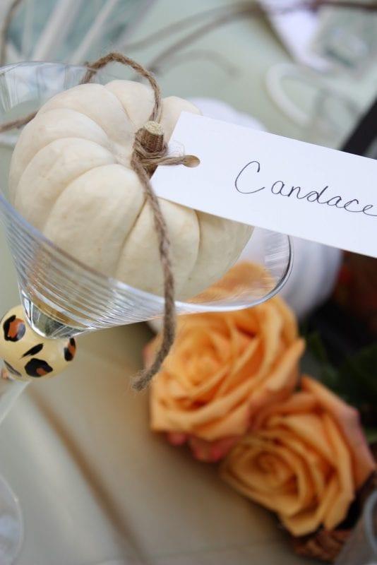 Easy pumpkin placecard idea myheartwithpleasurefills