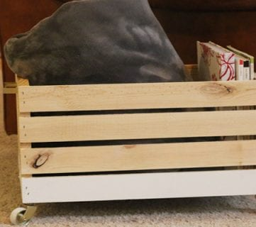 DIY Wood Blanket Box on Wheels