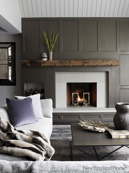 Assymetrical fireplaces: how to decorate around them and balance the wall