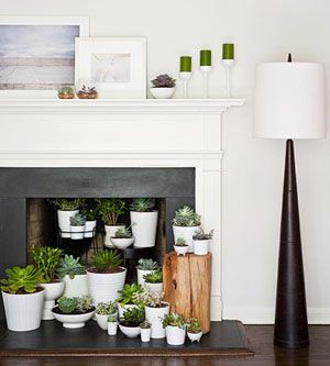 What To Do With A Non Functioning Fireplace White Pots And Planters For