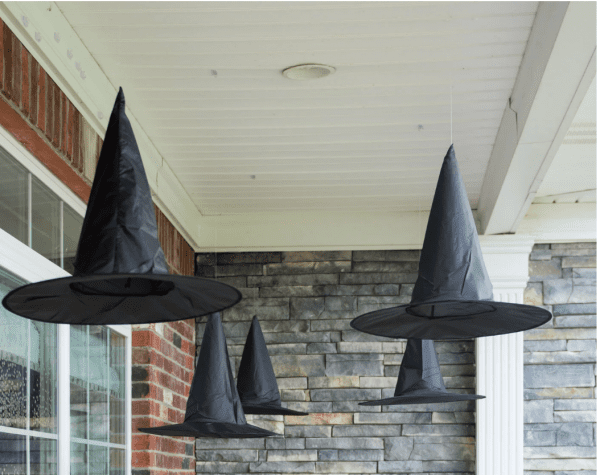 Dress up your porch with these Floating Witch Hat Luminaries By Polka Dot Chair