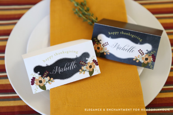 Folded Fillable Place Cards Thanksgiving Printable Bundle For Remodelaholic