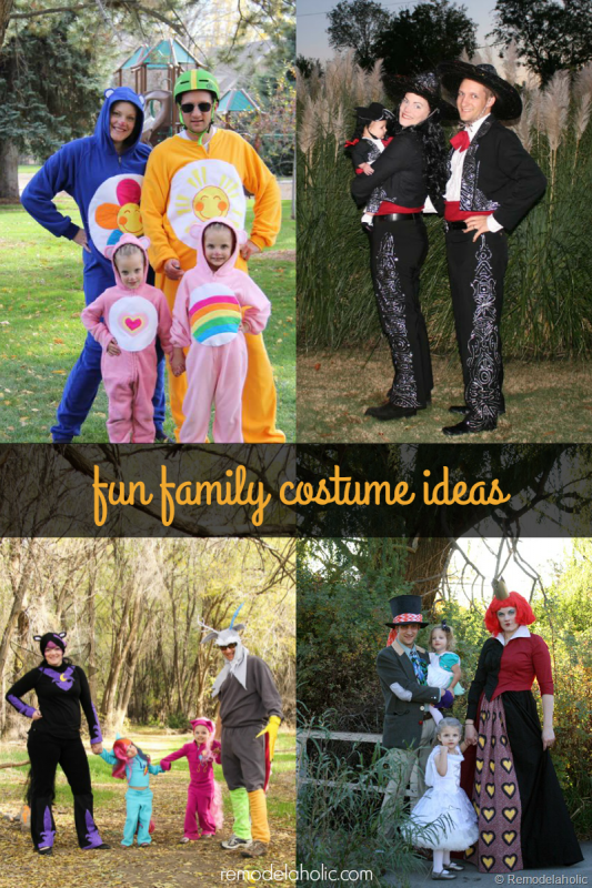 Looking for some fun family Halloween costume ideas? Try these ideas that work for both large families or groups and small groups as well.